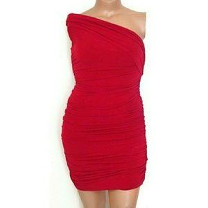 🎃Sweet Storm L, Ruched One Shoulder Dress